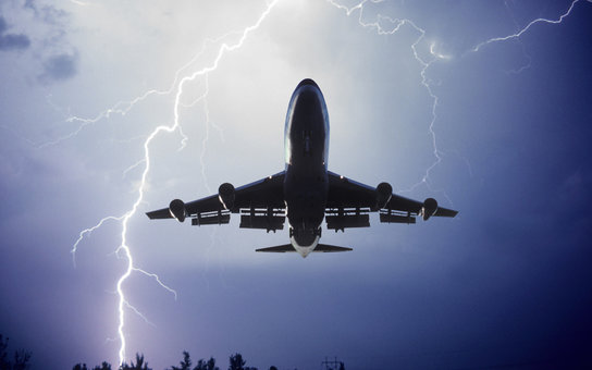 Airliner with Lightning