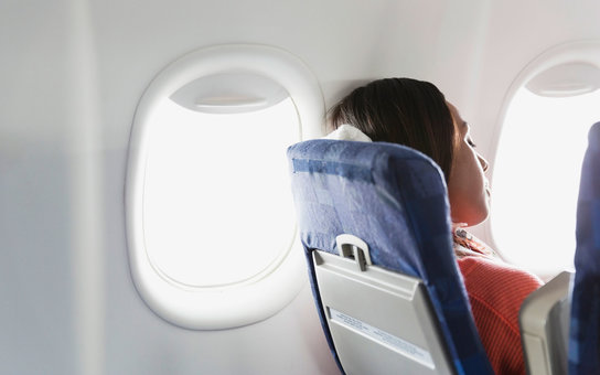 Reclined Airplane Seat