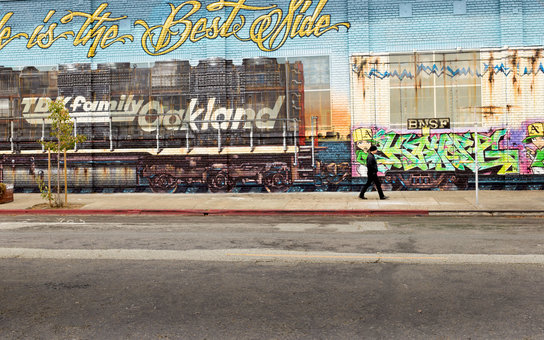Mural Norman Vogue Chuck Oakland California