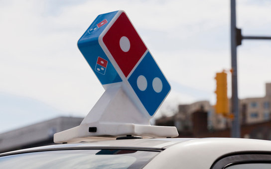 EKAP63 Domino's  pizza delivery car sign - USA