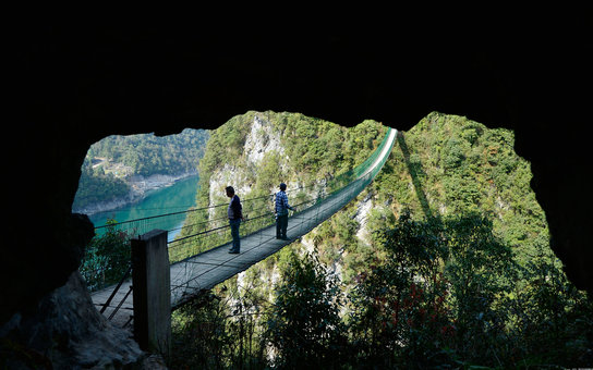 swinging bridge China