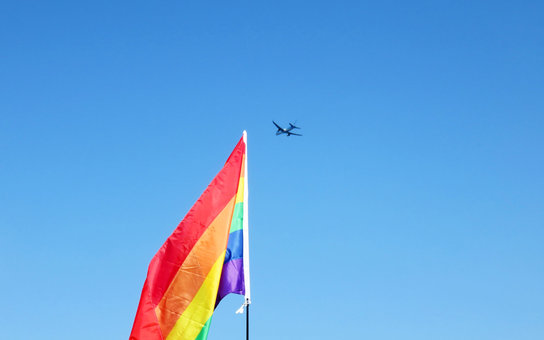 Pride Flag Airplane