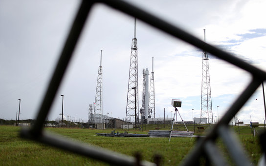 Private Spaceflight Company SpaceX Launches Cargo Capsule On Resupply Mission To Int'l Space Station