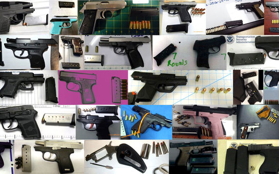 TSA Recovered Guns Airport Security