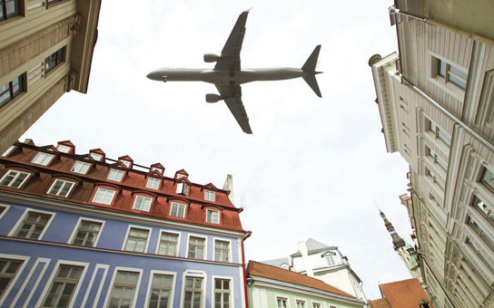 aircraft over Tallinn