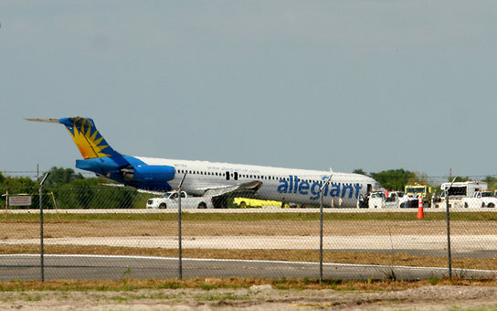 An Allegiant airlines plane