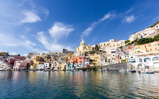 Procida, colorful island near Naples