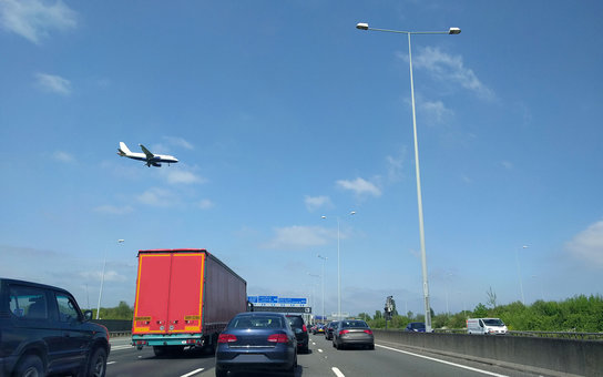Traffic Jam with Plane