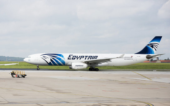 EgyptAir Plane at Charles de Gaulle Airport