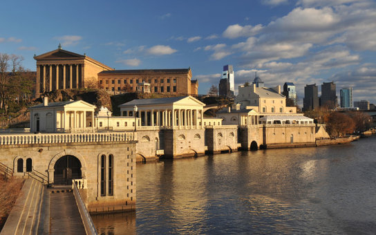 view of Philadelphia from the river, Pennsylvania