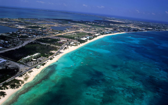 Cayman Islands aerial view