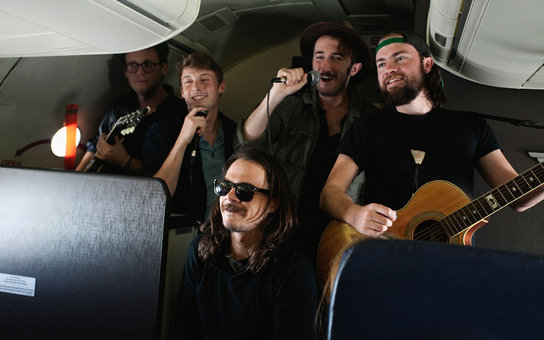 in flight concert southwest airline