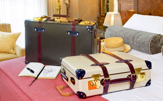 Luggage set from Globe-Trotter's collaboration with The Goring Hotel