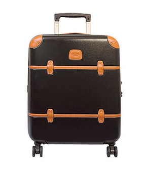 Bric's leather-trimmed polycarbonate trolley carry on suitcase
