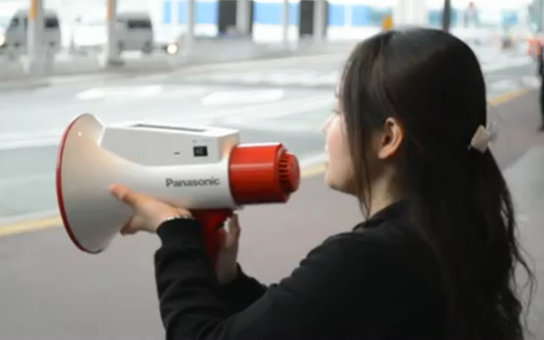 Language translating megaphone