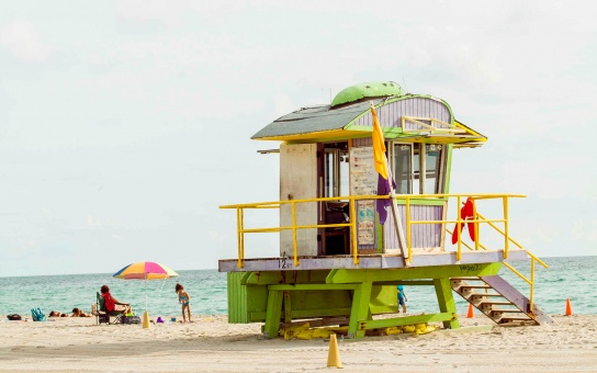 lifeguard tower in Miami, FL