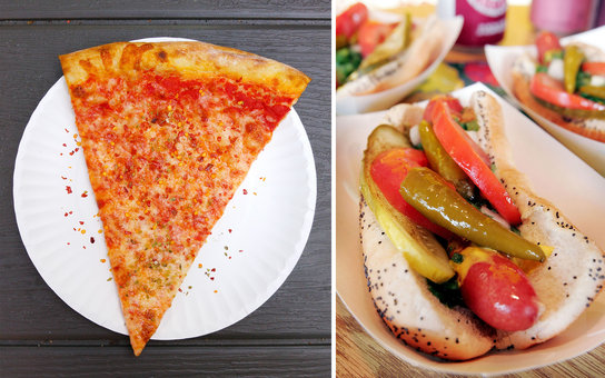 nyc pizza vs chicago hot dog