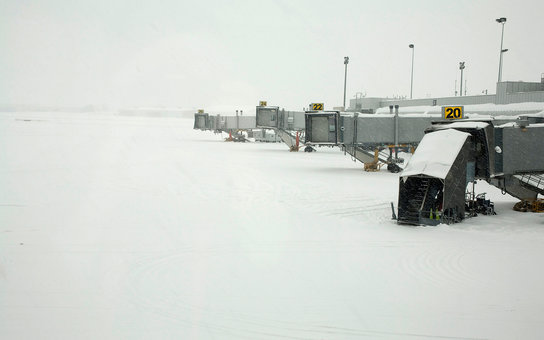 Blizzard at Bradley Airport