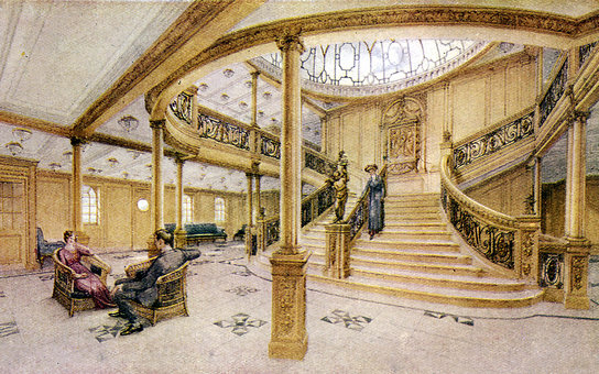 Illustration of Titanic interior