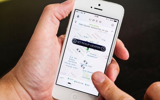 Uber cellphone app