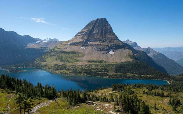 UNITED STATES - 2013/09/15: View of Bearhat Mountain above Hidden Lake at Logan Pass in Glacier National Park, Montana, United States. (Photo by Wolfgang Kaehler/LightRocket via Getty Images)
