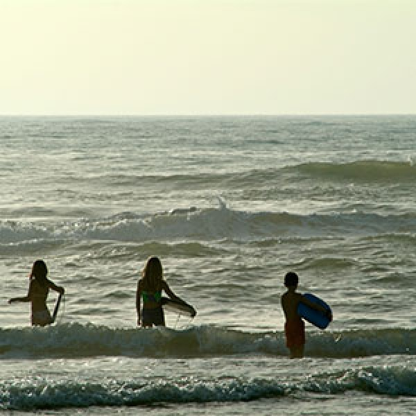 Surfing in South Padre, Texas